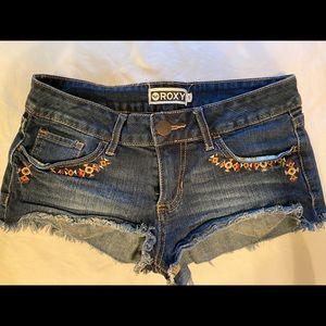 ROXY Denim Booty Shorts